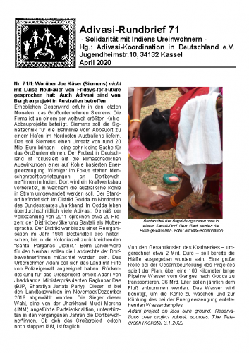 Adivasi Rundbrief 71