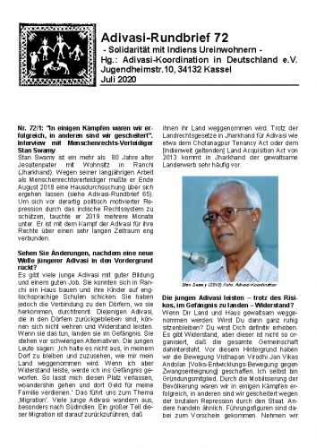 Adivasi Rundbrief 72